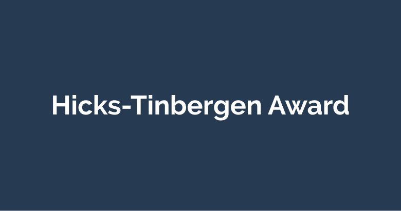 Hicks-Tinbergen Award